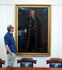 Geoff with the John Bankes Portrait