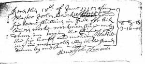 John Bankes - Bricklayer's Receipt, 1715
