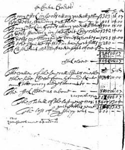 John Bankes Assets & Receipts, 1709