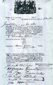 Joseph Collyer Freedom Record