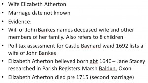 John Bankes & Elizabeth Atherton