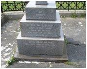 Rev D Herbert grave, Llansantffraid