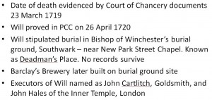 John Bankes death evidence