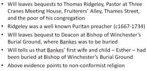 John Bankes religion