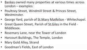John Bankes London premises
