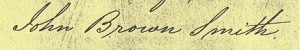 Signature of John Brown Smith